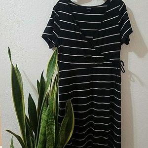 Torrid striped wrap dress 1